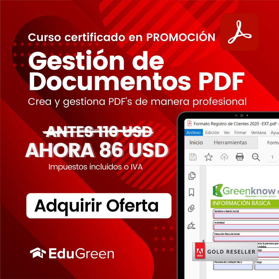 Curso Certificado Gestión de PDF